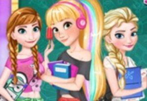 Mini Juego Disney girls Back to School Online Gratis